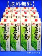 【送料無料】本格むぎ焼酎 うまか麦(ウマカむぎ) 20度1800mlパック 2ケース(12本) 鹿児島県 若松酒造